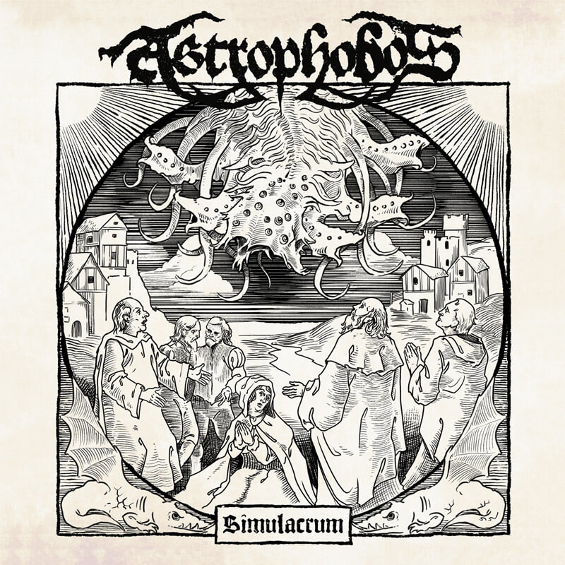 The cover of Astrophobos single 'Simulacrum